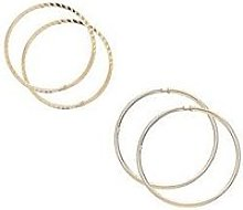 Love Gold 9 Carat Yellow Gold Set Of Two Crimped