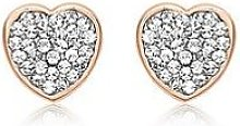 Love Gold 9Ct Rose Gold Cubic Zirconia Pave Heart