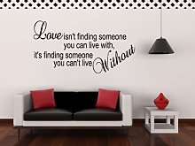 Love isnt finding someone without Wall Sticker