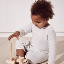 Love Knitted Romper, Ecru, 12-18mths