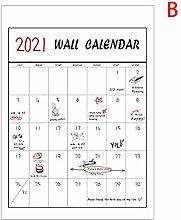 love lamp Wall Calendar 1pcs Creative 2021