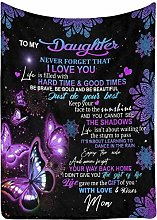 Love Letter Blanket to My Daughter from Mom Never