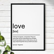 Love - Typography 'Definition' | Home