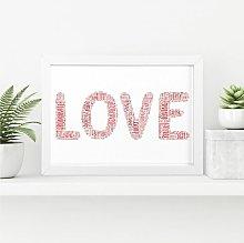 Love Word Art, Wall Print | Valentine's or
