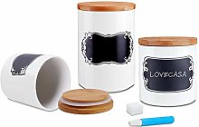 LOVECASA 3 Piece Ceramic Food Storage Tea, Bread