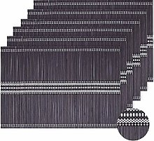LOVECASA Placemats and Coaster Set Of 12, Bamboo
