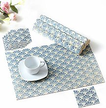 LOVECASA Placemats and Coaster Set Of 6, Bamboo