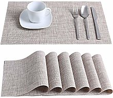 LOVECASA Placemats and Coaster Sets of 12,