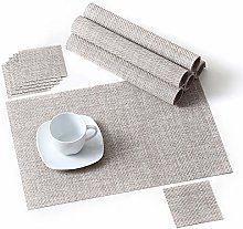LOVECASA Placemats and Coaster Sets of 6, Washable