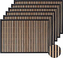 LOVECASA Placemats Set Of 12, Bamboo Place Mats