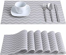 LOVECASA Placemats Set Of 12, Washable PVC Place