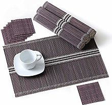 LOVECASA Placemats Set Of 6, Bamboo Place Mats