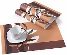 LOVECASA Placemats Set Of 6, Washable PVC Place