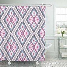 lovedomi Bathroom Decorative Gray Pattern Colorful
