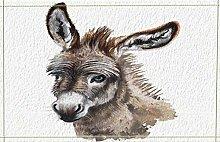 lovedomi Brown-Gray Donkey Funny Expression Animal