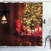 lovedomi Christmas Shower Curtain Christmas Scene