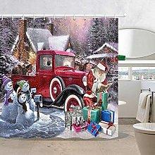 lovedomi Christmas Winter Snow Shower Curtain