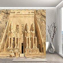 lovedomi Egyptian Decor Shower Curtain Ancient