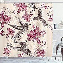 lovedomi Hummingbirds Shower Curtain Birds and