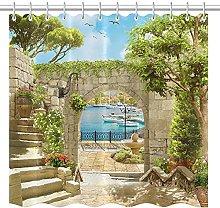 lovedomi Mediterranean Style White Retro City Wall