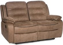 Lovell Contemporary Fabric 2 Seater Sofa In Caramel