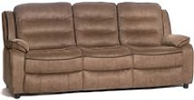 Lovell Contemporary Fabric 3 Seater Sofa In Caramel
