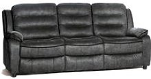 Lovell Contemporary Fabric 3 Seater Sofa In Grey