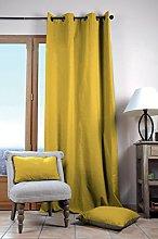 Lovely Casa Duo Plain Curtain 135 x 240 cm Yellow