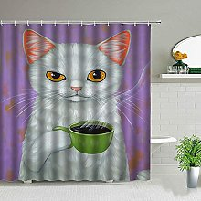 Lovely Cat Shower Curtain Set Funny Animal