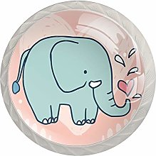 Lovely Elephant Drawer Round Knobs Cabinet Pull