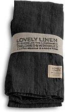 Lovely Linen - 100% Linen Table Napkin in Dark