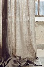 Lovely Linen Airy Curtain 260 x 280 - Natural Beige