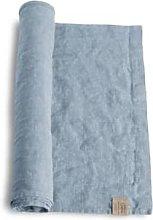 Lovely Linen - Dusty Blue Linen Table Runner -
