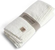Lovely Linen - L Off White Linen Tablecloth -