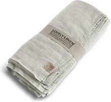 Lovely Linen - Linen Table Cloth In Light Grey