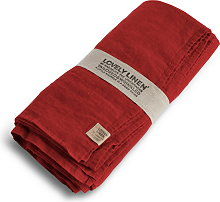 Lovely Linen Tablecloth 145x380 - Real Red