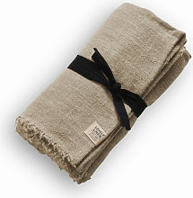 Lovely Linen Tablecloth Rustic Raw - 90x380 cm