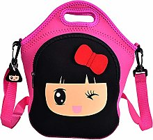 Lovely Red School Bags Backpack Lunch Bags Cartoon