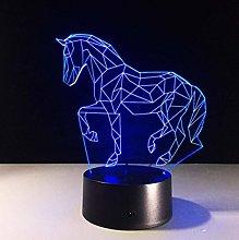 Lovely Unicorn 3D Led Night Light Horse Animal