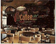 Lovemq 3D Photo Wall Paper Alphabet Coffee Cup