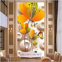 Lovemq Modern 3D Hd Mural Butterfly Flowers