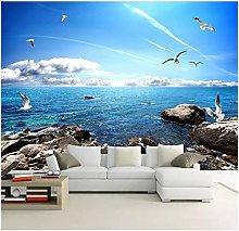 Lovemq Mural Wallpaper Blue Sky White Clouds