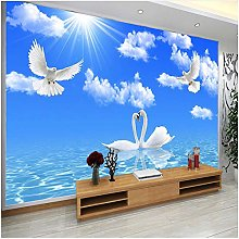 Lovemq Photo Wall Paper Blue Sky White Clouds