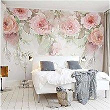 Lovemq Photo Wall Paper Rose Flowers Hand Painted