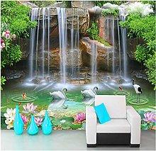Lovemq Photo Wallpaper 3D Stereoscopic Waterfall