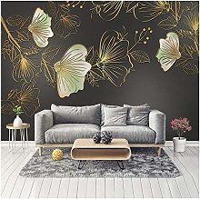 Lovemq Photo Wallpaper for Walls 3D Golden