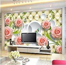 Lovemq Photo Wallpaper Rose Leather 3D Mural Wall