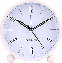 LovePlz Alarm Clock - 4inch Metal Round Alarm