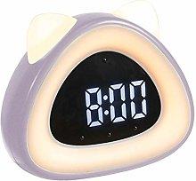 LovePlz Alarm Clock - Cute Cat Ear Shape Digital