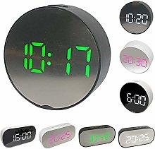 LovePlz Alarm Clock - Mini Portable Round Oval